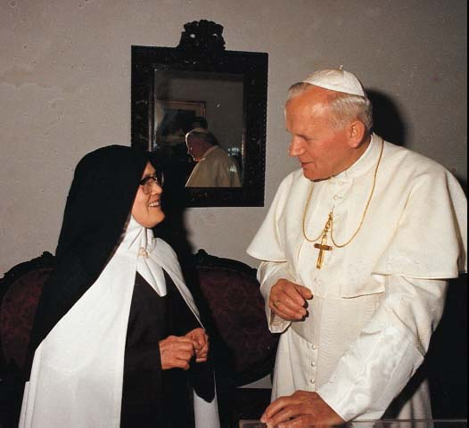 Juan Pablo II y Sor Lucia